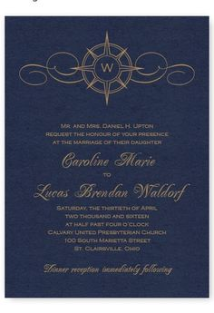 Compass wedding invitation. $75 off $249 with coupon code super75. http://www.theamericanwedding.com/compass-wedding-invitations.html