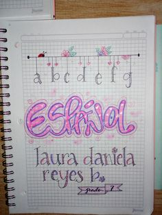@liliana_herazo_ls E Journals, Notebook Art, School Notebooks, School Notes, Diy And Crafts, Banner, Doodles, Bullet Journal, Lettering