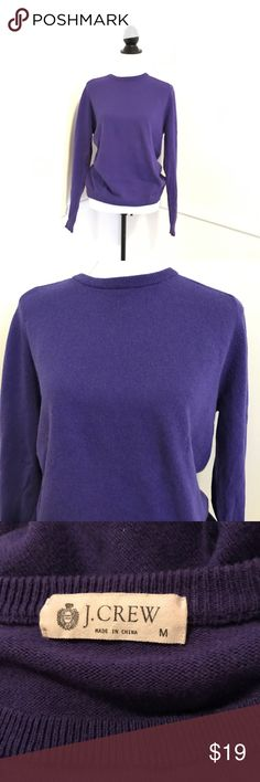 J Crew medium purple sweater Long sleeve purple sweater perfect for fall - 92% cotton 8% cashmere good condition no pilling📍any questions please ask📍 measurements are pictured for your convenience📍 J. Crew Sweaters Crew & Scoop Necks