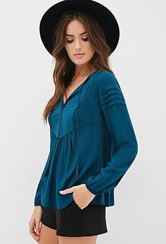 4e3ba96838064 Forever 21. Clothes To OrderProfessional WardrobeBlue Long Sleeve TopsBlue  ...