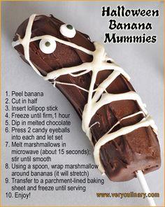 Halloween Banana Mummies #halloween #treats