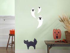halloween ghost + cat + pumpkin decorations | weeDECOR