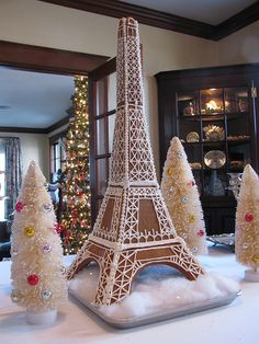 """A pinner says """"My first attempt at gingerbread architecture"""". Awesome!"""