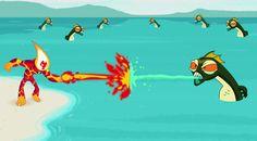 Ben 10 Ateş Topu Dövüş x 18 oyunu