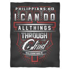 Philippians 4:13 - Fleece Blanket