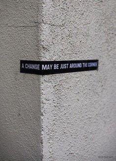 A change...