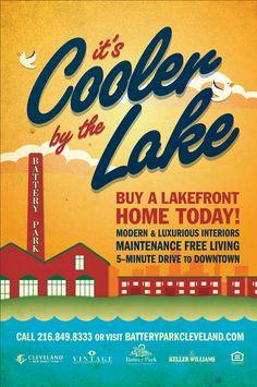 Battery Park Cleveland Homes Poster via http://cargocollective.com/szoradydesign/Battery-Park-Summer-Poster