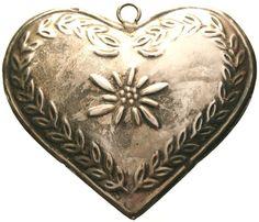 Vintage ExVoto Sterling Silver RELIQUARY Heart by CherishedSaints, $78.00