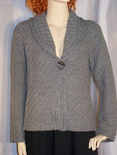 Rockmans long sleeve cardigan size M large knit cardigan grey by sprocket2chain - $15.30