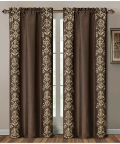 Take a look at this Chocolate Garwood Curtain Panel by Victoria Classics on today! Living Room Decor Curtains, Home Curtains, Bedroom Decor, Luxury Curtains, Elegant Curtains, Curtain Styles, Curtain Designs, Rideaux Design, Tassel Curtains