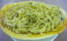 Garlic Parsley Spaghetti Squash