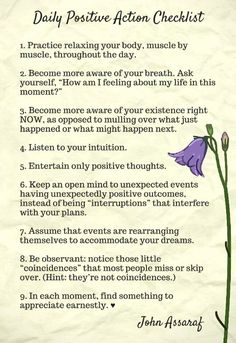 Positive Checklist