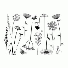 Crafty Individuals CI-395 - 'Build a Meadow' Art Rubber Stamps, 137mm x 96mm