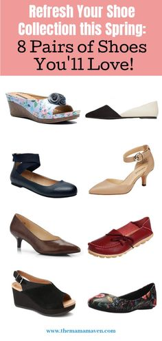 Refresh Your Shoe Collection this Spring: 8 Pairs of Shoes You'll Love! Red Loafers, Leather Loafers, Comfortable Wedges, Pointy Toe Flats, Colorful Shoes, Dark Blue Jeans, Classic Pumps, Spring Shoes, Shoe Collection