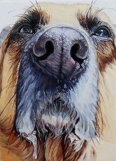 """Smooch #6"" 5"" x 7"" oil on canvas, 2014"