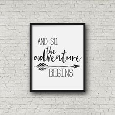 Motivational Printable Wall Art Adventure by HeartAndWillowPrints