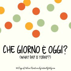 94/100 - 100 Days of Italian Questions on Instagram
