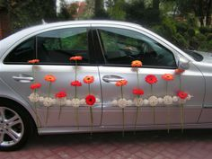 flower car, decoration, wedding car