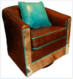 Salina Leather Swivel Glider - Southern Creek Rustic Furnishings