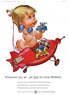 Around 1958 Pete Hawley began working on a new, long series of ads for a major national account: he created a little cutie named 'Betsy Bell' for the Bell Telephone System.