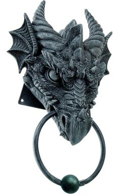 Dragon Door Knocker - perfect for those who love Labyrinth or gothic style