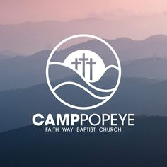 Logo Design for Christian Camp Typography Logo, Logo Branding, Logos, Church Graphic Design, Church Design, Logo Inspiration, Youth Logo, Conference Branding, Camp Logo