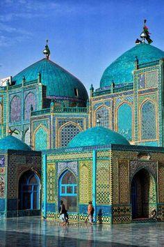 Blue Mosque in Mazar Sharif, Afghanistan