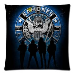 Cotton Linen Ramones Custom Cushion Cover Decoractive Pillow Cover Throw Pillow Case kids Gift 45X45CM