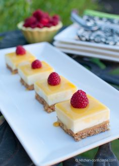 No bake lemon bars: http://kitchenconfidante.com/no-bake-lemon-curd-cheesecake-bars