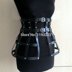 Cheap leather harness body bondage, Buy Quality leather harness directly from China leather harness body Suppliers: Handmade Punk Gothic Fetish Women Girl Leather Harness Body Bondage Cage Frame Waist Belt Hip Straps Leather Skirt