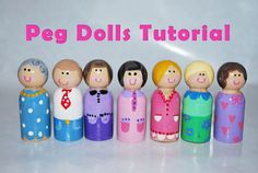 Peg dolls..Tutorial.. **This post was originally published a long time ago. If you're a long time reader of this site then you have probably seen it around....First you need unfinished man peg dolls from the craft store. They have women forms that are smaller and flare out at the bottom like a skirt. They are fine to use but I like these man dolls because they are chunky and much safer for little hands.