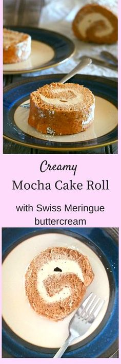 A creamy mocha cake roll that is simple yet so decadent. The luscious mocha swiss meringue buttercream is such a decadent frosting to highlight the cake.