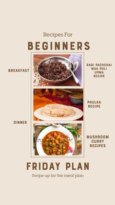 Weekly Recipes For Beginners - Mushroom Curry, Spicy Aloo Chutney Sandwich And Much Chutney Sandwich, Mushroom Curry, Upma Recipe, Stuffed Mushrooms, Stuffed Peppers, How To Make Salad, Easy Salads, Recipes For Beginners, Meal Planner