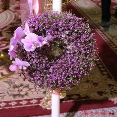 Lumanari botez sau nunta Floral Wreath, Wreaths, Decor, Decoration, Door Wreaths, Dekoration, Deco Mesh Wreaths, Inredning, Interior Decorating