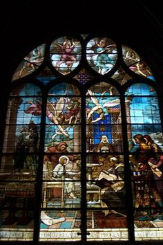 Stained Glass in Church of St. Eustache 2, Paris, France