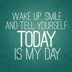 Today is your day. Don't doubt it! #quotes #motivation #image