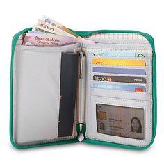 Amazon.com | Pacsafe RFIDsafe W150 Anti-Theft RFID Blocking Organizer, Black | Travel Wallets