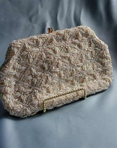 Designing Bride - Vintage Bag -  features intricate beading
