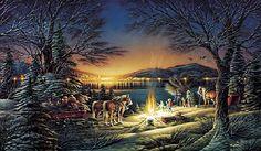 """""""Heartland Lights"""" Artist, Terry Redlin"""