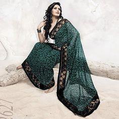 Stunning Green Saree