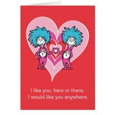 Dr. Seuss Valentine | Thing 1 Thing 2