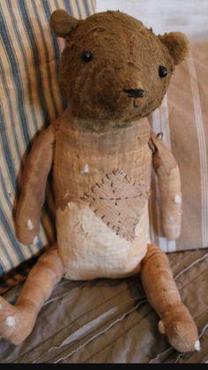 Old Teddy Bears, Antique Teddy Bears, My Teddy Bear, Antique Toys, Vintage Toys, Sock Animals, Love Bear, Doll Quilt, Bear Doll