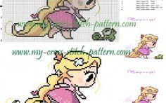 Chibi Tangled cross stitch pattern