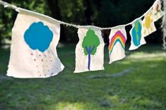 Inspired by Tibetan prayer flags, these playful garlands will spread good cheer and happy thoughts to your garden.
