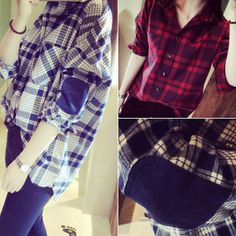 Find More Blouses & Shirts Information about Womens Fashion Long Sleeve Pockets Blouse Lapel Casual Cotton Plaid Shirt Loose Outerwear Tops Blusas,High Quality top 40 shirts,China top brand t'shirt Suppliers, Cheap shirts hawaii from Comme t'y es belle! on Aliexpress.com
