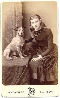 *Girl and her dog.Libby Hall Collection - Tap the pin for the most adorable pawtastic fur baby apparel! You'll love the dog clothes and cat clothes! Vintage Children Photos, Vintage Pictures, Old Pictures, Louis Daguerre, Antique Photos, Vintage Photographs, Foto Fantasy, Photos With Dog, Me And My Dog