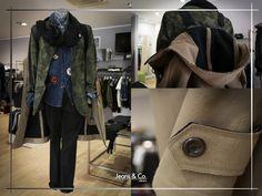Ecco l'#Outfit giorno da uomo che vi proponiamo oggi: - Giacca militare; - Camicia di jeans e pantalone nero; - Sciarpetta e trench beige. Scopri tutte le nostre proposte uomo da #JeansandCocollezioni Ti aspettiamo in negozio