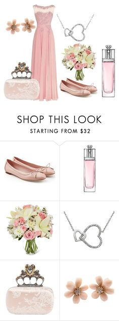 """Dusky Pink for Weddings"" by belle-boutique-uk on Polyvore featuring Salvatore Ferragamo, Christian Dior, Alexander McQueen and Van Cleef & Arpels"