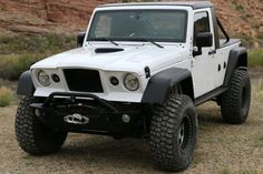 """M715 JK Conversion  The JK Wrangler M715© front clip kit consists of: hood with one center and two side grill inserts; two fenders with one grill insert per side; front fascia with one main and two bottom grill inserts, the original turn signal and head lights can be re-used; two front and two rear high fender flairs, 2"""" higher and 1"""" wider to mount 40"""" tires, the front ones utilize reassessmentsto mount ½"""" LED signal lights; front inner fenders mount inboard to the frame..."""