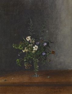 Léon Bonvin, Vase of Flowers